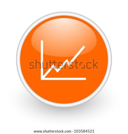 graph icon - stock photo