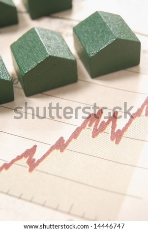 graph in a paper with wooden houses