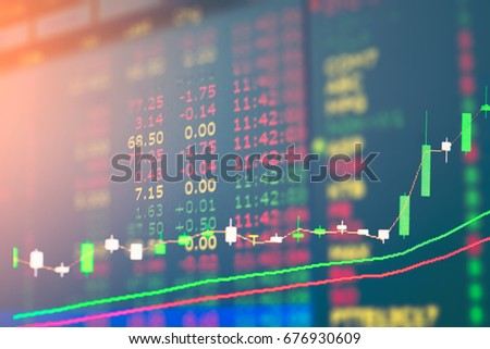 graph of stock market double exposure