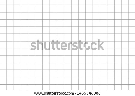 Graph paper,grid paper texture, grid sheet, abstract grid line, grey straight lines on white background