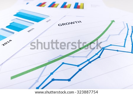 Graph showing economic growth