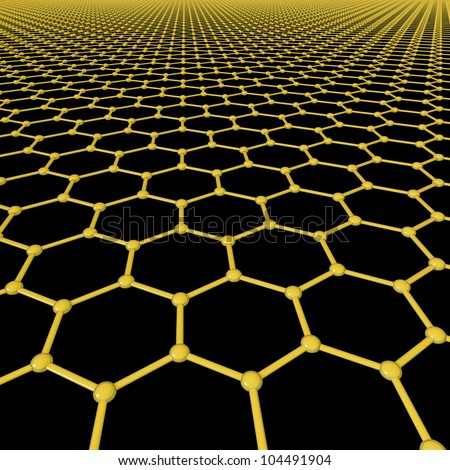Graphene molecules forming a background