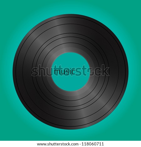 graphic background for vintage cover/ with vinyl/ Music