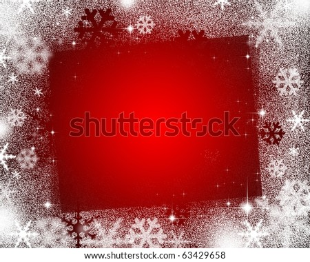 Graphic background of image at Christmas - stock photo