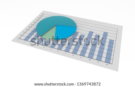 graphic cake, business development, 3d rendering, 3d illustration, business graph, economy, abstract financial chart