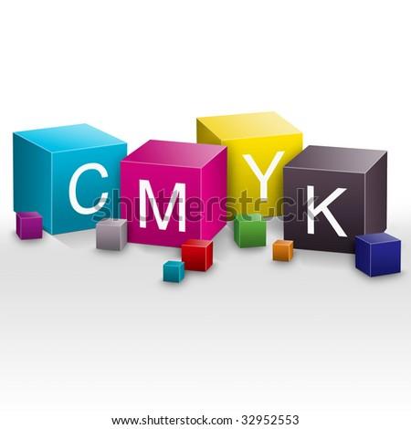 Graphic CMYK illustration