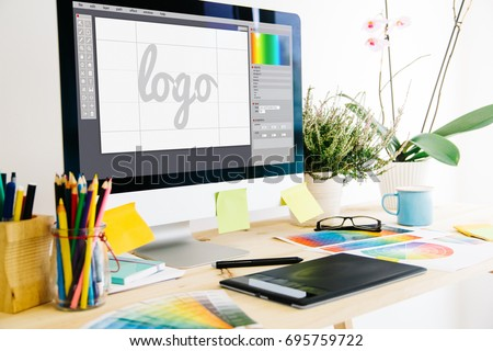 Graphic design studio logo #695759722