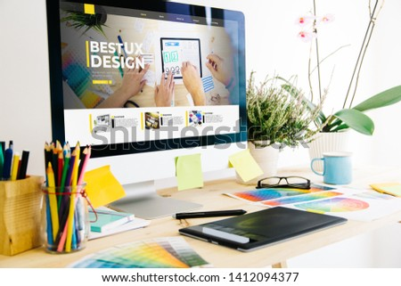 Graphic design studio showing ux design website #1412094377