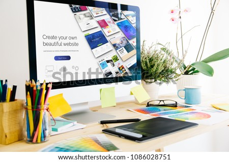 Graphic design studio website builder #1086028751