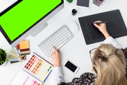 Graphic designer's workplace