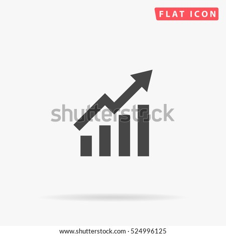 Graphic Icon Illustration. Flat simple grey symbol on white background with shadow