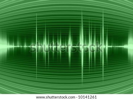 Graphic of a digital sound.