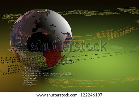 Graphic representation of the Globe