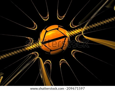 Graphic spinning ball fractal abstract background....DP