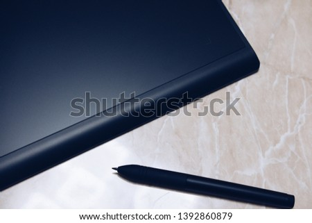 Graphic tablet for illustrators and designers #1392860879