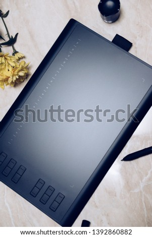 Graphic tablet for illustrators and designers #1392860882