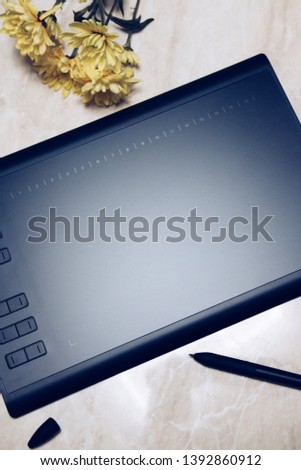 Graphic tablet for illustrators and designers #1392860912