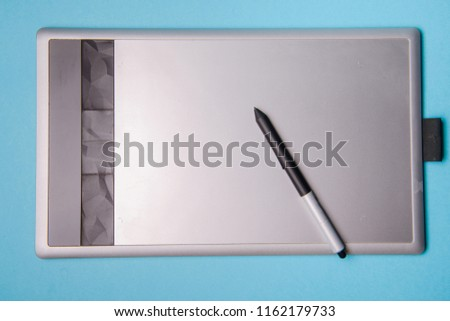 Graphic tablet with pen for illustrators and designers #1162179733