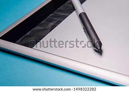 Graphic tablet with pen for illustrators and designers #1498322282