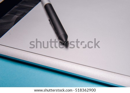 Graphic tablet with pen for illustrators and designers #518362900