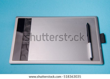 Graphic tablet with pen for illustrators and designers #518363035