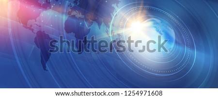 Graphical modern digital world news background, technology communication background. 3d illustration