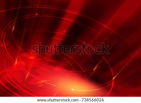 Graphical red theme news background, Suitable forTv and virtual media presentation.