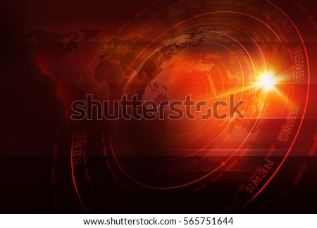 Graphical Sport News Background with World Map and Round Circles with Layers of Stages. Text on Ground. 3d Illustration, 3d Render