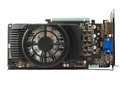 Graphics card on isolated background closeup photo