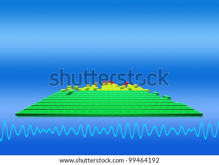 graphics-equalizer on abstract background