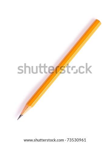 Graphite pencil of yellow color