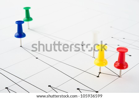 graphs and charts of stock market - stock photo