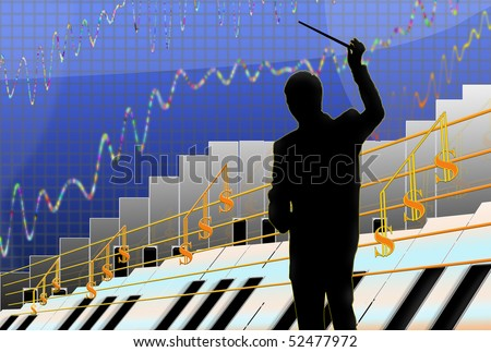 Graphs and charts.  The growth rates of business. Increased  profits.