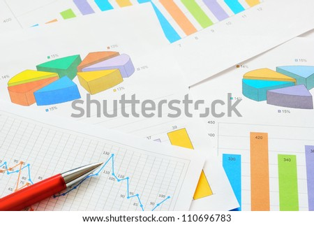 Graphs and charts, top view