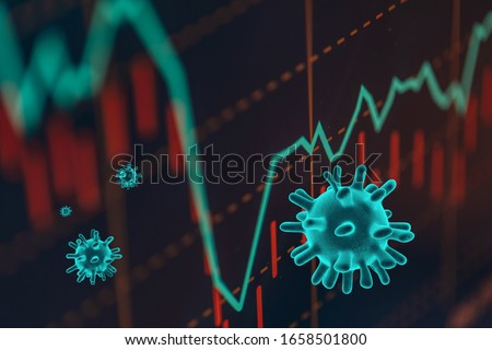 Photo of  Graphs representing the stock market crash caused by the Coronavirus