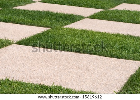 Grass and stone pattern