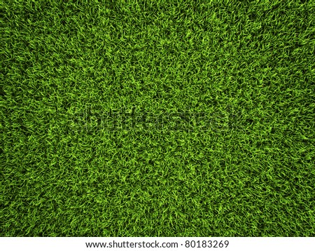 Grass background, fresh green soccer turf, 3d render