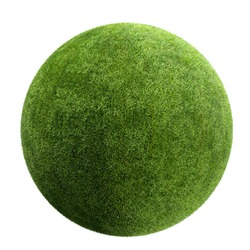 grass ball isolated
