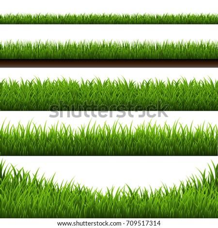 Grass Border Big Set - Shutterstock ID 709517314