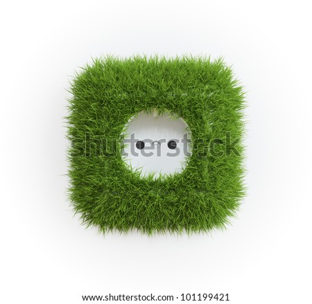 Grass covered outlet - renewable energy concept
