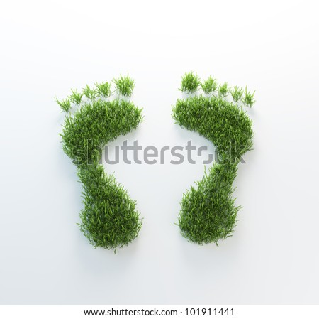 Grass footrpints - environmentla footprint concept