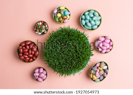 Grass growth from wheat grain for traditional fest Nowruz