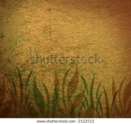 Grass Grunge background with space for text
