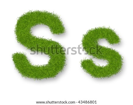 Grass lower-case and upper-case letter S