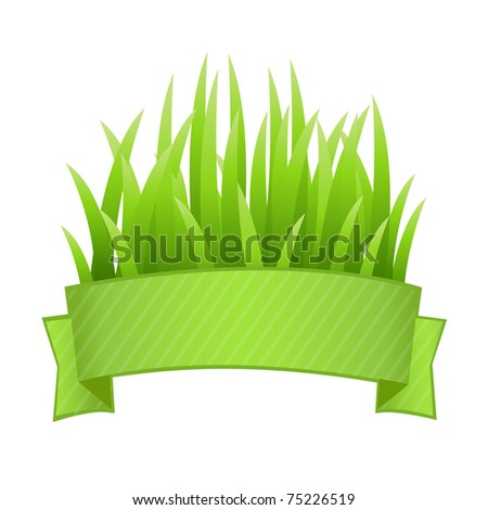 Grass Set, Isolated On White Background