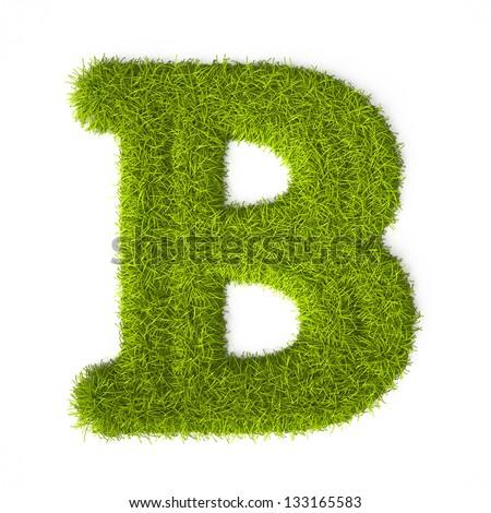 Grass style Latin Alphabet  B Alphabet In Style