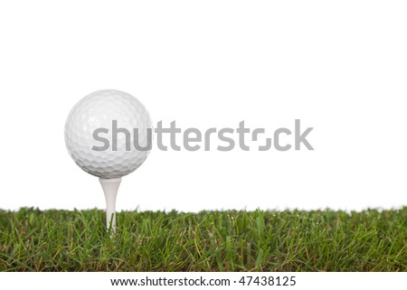 grass with golf ball on tee