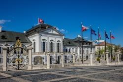 Grassalkovich Palace (Grasalkovicov Palac) in Bratislava, Slovakia, residence of the President of Slovakia.