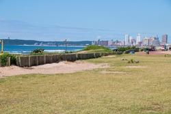 Grassy area for picnics at durban beachfront