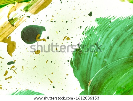 Grassy Color Sunny Dirty Art Background. Natural Green Mustard Acrylic Painting. Organic Color Yellow Abstract Eco Background. Lime Green Summer Acrylic Paint. Fresh Green Summer Oil Painting.